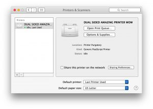 How to print double sided on MAC