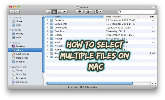 How to Select Multiple Files on Mac [ Copy, Move or Paste ...