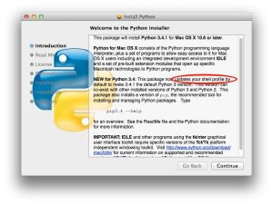 how to update python on mac