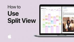 how to split screen in mac