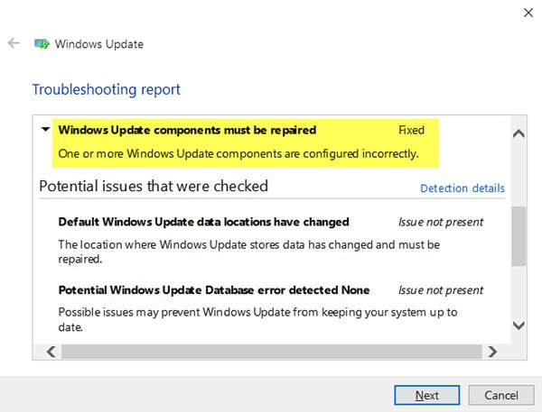 Windows Update Components Must be Repaired