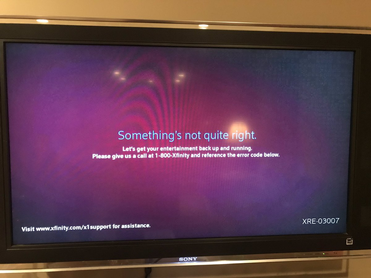 Xfinity Error Code XRE-03007 - Something's Not Quite Right!