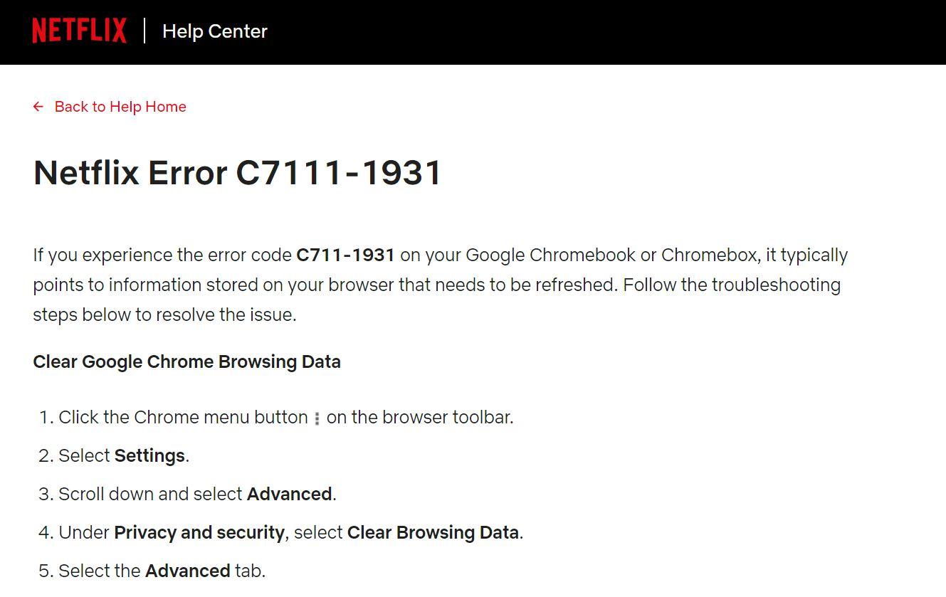 Netflix Error Code M7111-1931-404 - Issue Easy Fixed