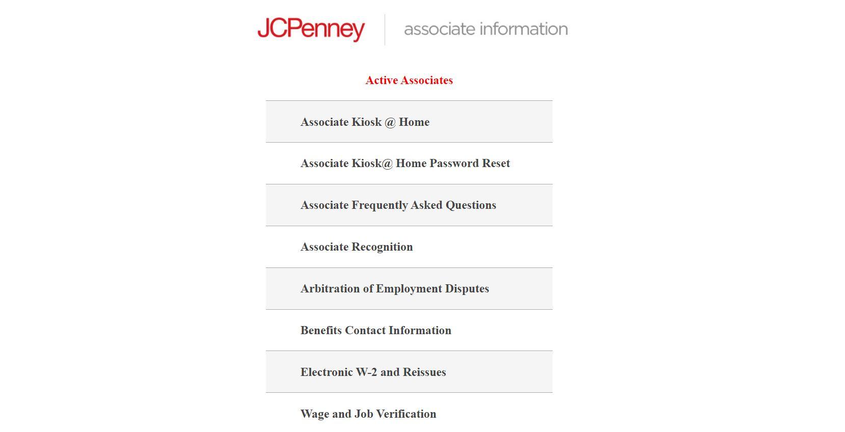 JCP Associate Kiosk Login - www.jcpassociates.com Kiosk