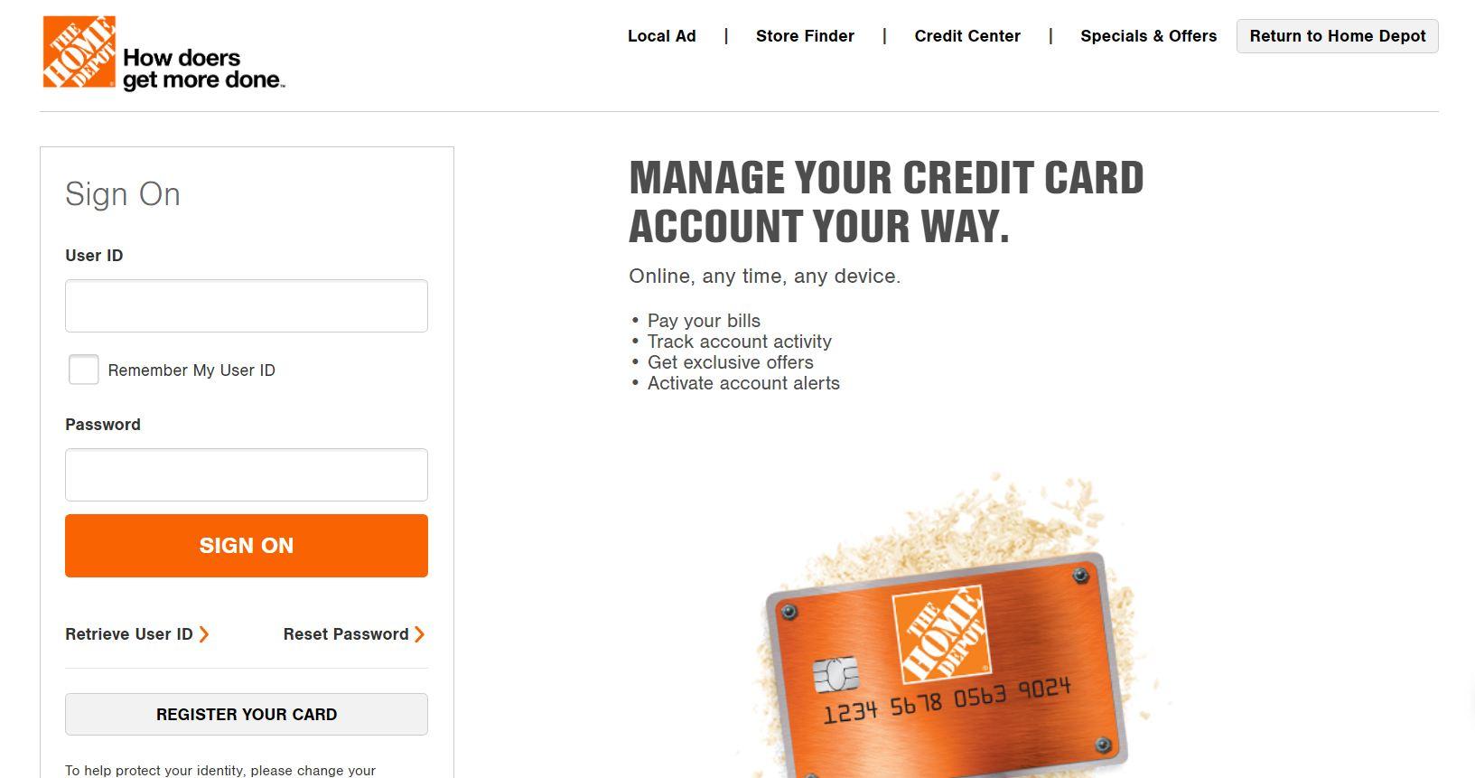 Myhomedepotaccount.com - My Home Depot Account Card Login