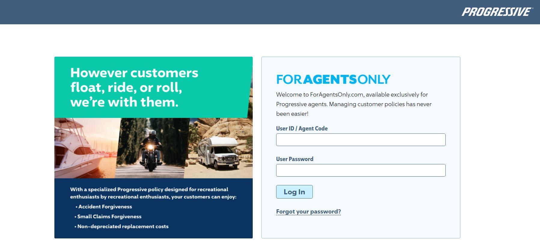 ForAgentsOnly.com Login - Progressive Agent Login