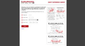 www.cinemarksurvey.com - Win $10 Off - Take Guest Experience Survey